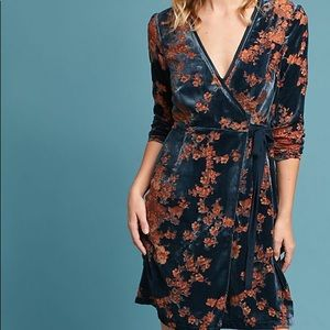 Anthropologie | Eri + Ali | Wrap Dress | Velvet